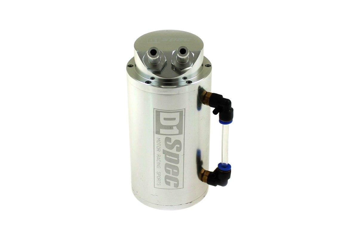 Oil catch tank 0.7L 9mm D1Spec Silver Replica - GRUBYGARAGE - Sklep Tuningowy